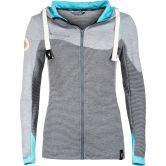 Chillaz - Rock Hooded Jacket Women anthrazit stripes light blue