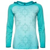 Chillaz - Bergamo Ornament Longsleeve Damen aqua washed