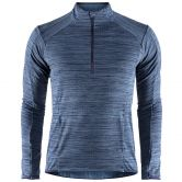 Craft - Grid Half Zip Men maritime melange