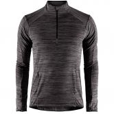Craft - Grid Half Zip Men black melange