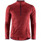 Craft - Grid Halfzip Men red