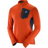 Salomon - Trail Runner Warm Midlayer Herren vivid orange big blue-x