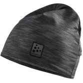 Craft - Microfleece Ponytail Mütze black melange