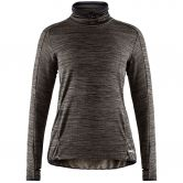 Craft - Grid Turtleneck Skipullover Damen grau