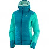 Salomon - Right Nice Hybrid Hoodie Damen waterfall deep lagoon