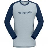 Norrona - fjørå equaliser lightweight Longsleeve Men drizzle indigo night