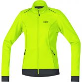 GORE® Wear - C3 Windstopper Thermo Jacke Damen neon gelb schwarz