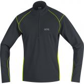 GORE® Wear - R3 Thermo Zip Longsleeve Shirt Herren black neon yellow