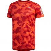 adidas - Own the Run Urban Camo T-shirt Men active orange active maroon