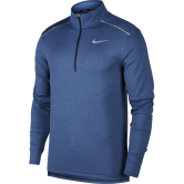 Nike - Element 3.0 Laufshirt Halfzip Herren obsidian heather reflective silver