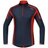 Gore Running Wear® - Air Zip Laufshirt lang Herren navy