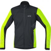 GORE® Wear - R5 Gore® Windstopper® Laufjacke Herren black neon yellow