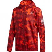 adidas - Own the Run Camouflage Jacke Herren active orange active maroon collegiate bu
