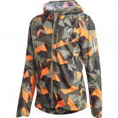adidas - Own the Run Camo Jacke Herren legacy green app signal orange black