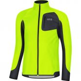 GORE® Wear - R3 Partial Gore® Windstopper® Laufshirt Herren neon yellow black
