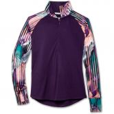 Brooks - Dash 1/2-Zip Laufshirt Damen berry berry canyon