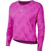 Nike - Air Laufshirt Langarm Damen pire pink reflective silver