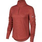 Nike - Sphere Element Laufshirt Damen cedar light redwood heather reflective silver