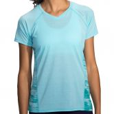 Brooks - Distance T-Shirt Damen heather mirage tile