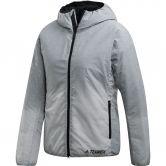 adidas - Windweave Insulated Hooded Jacket Women grey three white