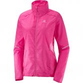 Salomon - Agile Wind Laufjacke Damen pink yarrow