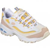 Skechers - D'Lites Second Chance Sneaker Women white yellow