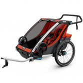 Thule - Chariot Cross 2 Sitzer rot