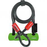 Abus - Ultra Mini 410 Bügelschloss mit 120cm Kabel schwarz grün