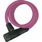 Abus - Spiralkabelschloss Primo 5510/180cm pink
