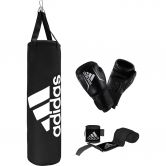 adidas - Boxing Bag Set black white