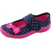 Fischer Markenschuh - Alex Slipper with Points Girls marine pink
