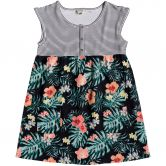 Roxy - Hey Mama Dress Girls anthracite hibiscus