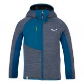 SALEWA - Puez Melange Polarlite Fleece Jacket Kids poseidon melange
