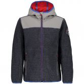 CMP - Chenille Knitted Fleece Jacket Kids grey