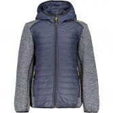 CMP - Hybrid Knitted Fleece Jacket Kids asphalt