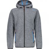 CMP - Knitted Fleece Jacket Boys argento melange