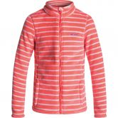 Roxy - Igloo Fleece Jacket Girls neon grapefruit teddy stripe