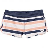 Roxy - Made For ROXY Board Shorts Girls cadmium orange pong stripes