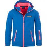 Trollkids - Oslofjord Softshell Jacket Girls midnight blue coral