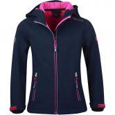 Trollkids - Trollfjord Softshell Jacket Girls navy magenta