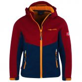 Trollkids - Kristiansand Softshell Jacket Kids rusty red mystic blue
