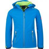 Trollkids - Trollfjord Softshell Jacket Kids medium blue green