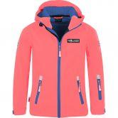 Trollkids - Oslofjord Softshell Jacket Girls coral midnight blue