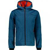 CMP - Softshell Jacke Jungen blau melange orange