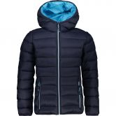 CMP - Fix Hood Quilted Jacket Kids blue turchese