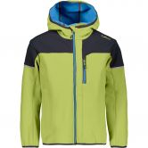 CMP - Fix Hood Softshelljacke Kinder limegreen