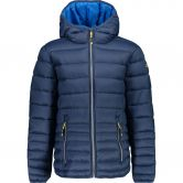 CMP - Fix Hood Quilted Jacket Kids inchiostro