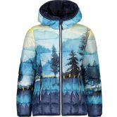 CMP - Fix Hood Jacket Kids blue curacao yellow
