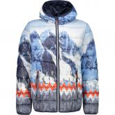 CMP - Fix Hood Jacket Kids blue tango graffite
