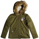 Roxy - Feel the Sun Parka Kinder burnt olive